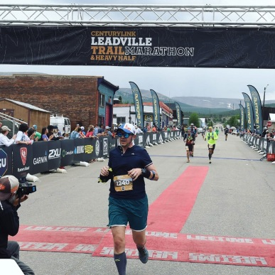 Finishing the Leadville Heavy Half in June of 2018. The struggle was real.