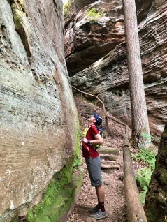 At the bottom of Devil's Gulch at Natural Bridge State Resort Park. Photo by Rebekah Whitacre.