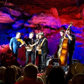 Gregory Alan Isakov and band performing for 'Bluegrass Underground' on May 19, 2019. Photo by Curt Whitacre.