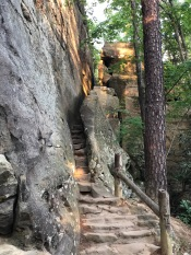 The staircase to the top of Natural Bridge. Photo by Curt Whitacre.
