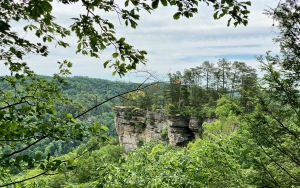 Hiking to Natural Bridge. Photo by Curt Whitacre.